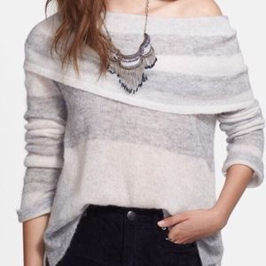 Free People striped cowl neck sweater